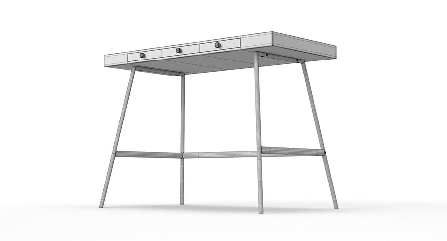 Biurko Ikea Lillasen royalty-free 3d model - Preview no. 14