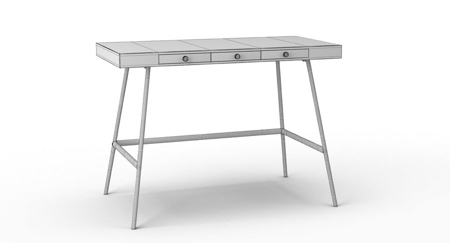 Biurko Ikea Lillasen royalty-free 3d model - Preview no. 13