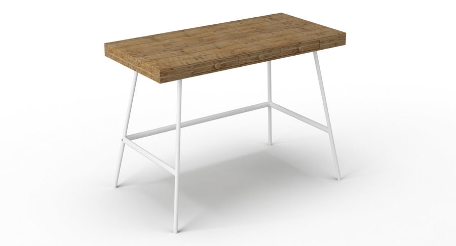 Biurko Ikea Lillasen royalty-free 3d model - Preview no. 5