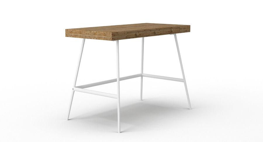 Biurko Ikea Lillasen royalty-free 3d model - Preview no. 3