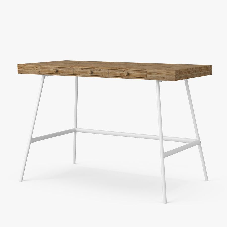 Biurko Ikea Lillasen royalty-free 3d model - Preview no. 1