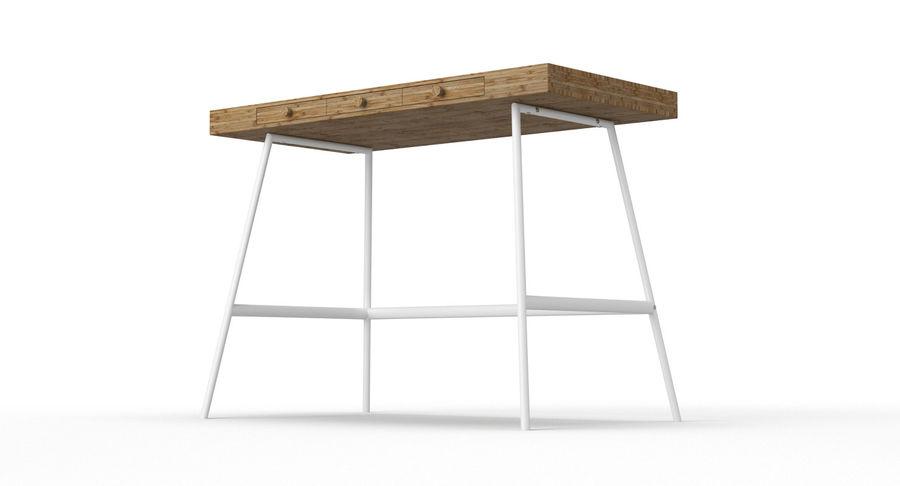 Biurko Ikea Lillasen royalty-free 3d model - Preview no. 8