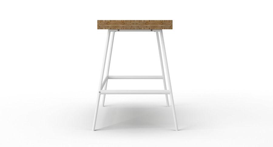 Biurko Ikea Lillasen royalty-free 3d model - Preview no. 7