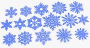 16 copos de nieve modelo 3d