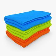 タオル折り3色 3d model