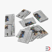 Newspapers 3D Models Collection 3d model