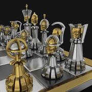 """国际象棋""""头骨"""" 3d model"""