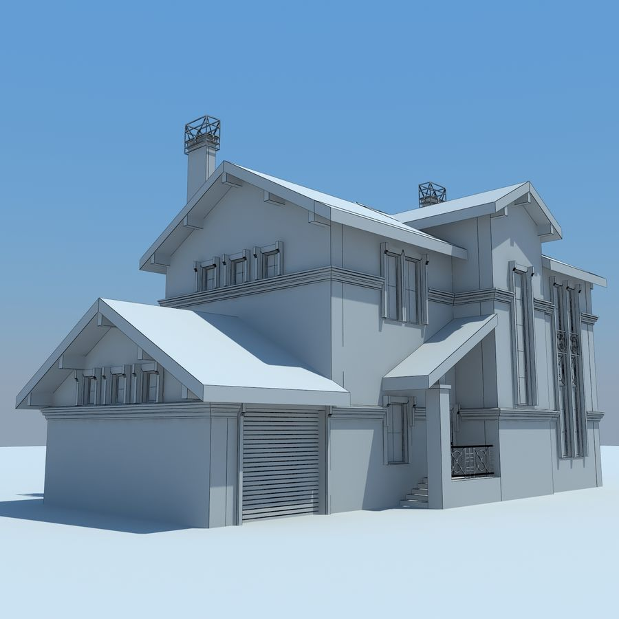 House cottage royalty-free 3d model - Preview no. 10