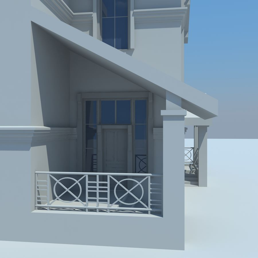 House cottage royalty-free 3d model - Preview no. 5