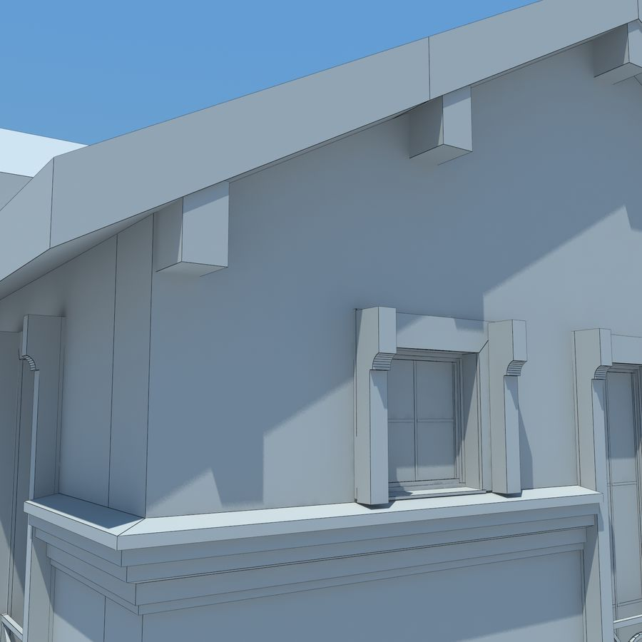 House cottage royalty-free 3d model - Preview no. 13