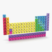 Periodiek systeem 3d model