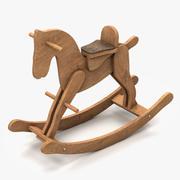 Houten schommelpaard 3d model