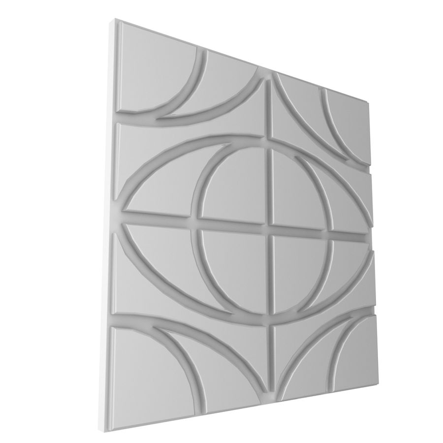 Väggpanelset royalty-free 3d model - Preview no. 6