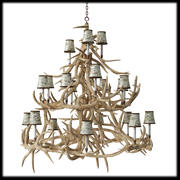 chandelier deer horns 3d model