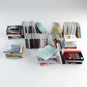 Kitap Seti Cilt 3 (96 farklı kitap) 3d model
