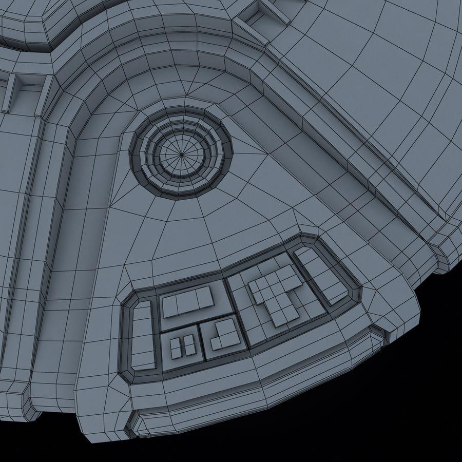 Bilim Kurgu UFO royalty-free 3d model - Preview no. 21