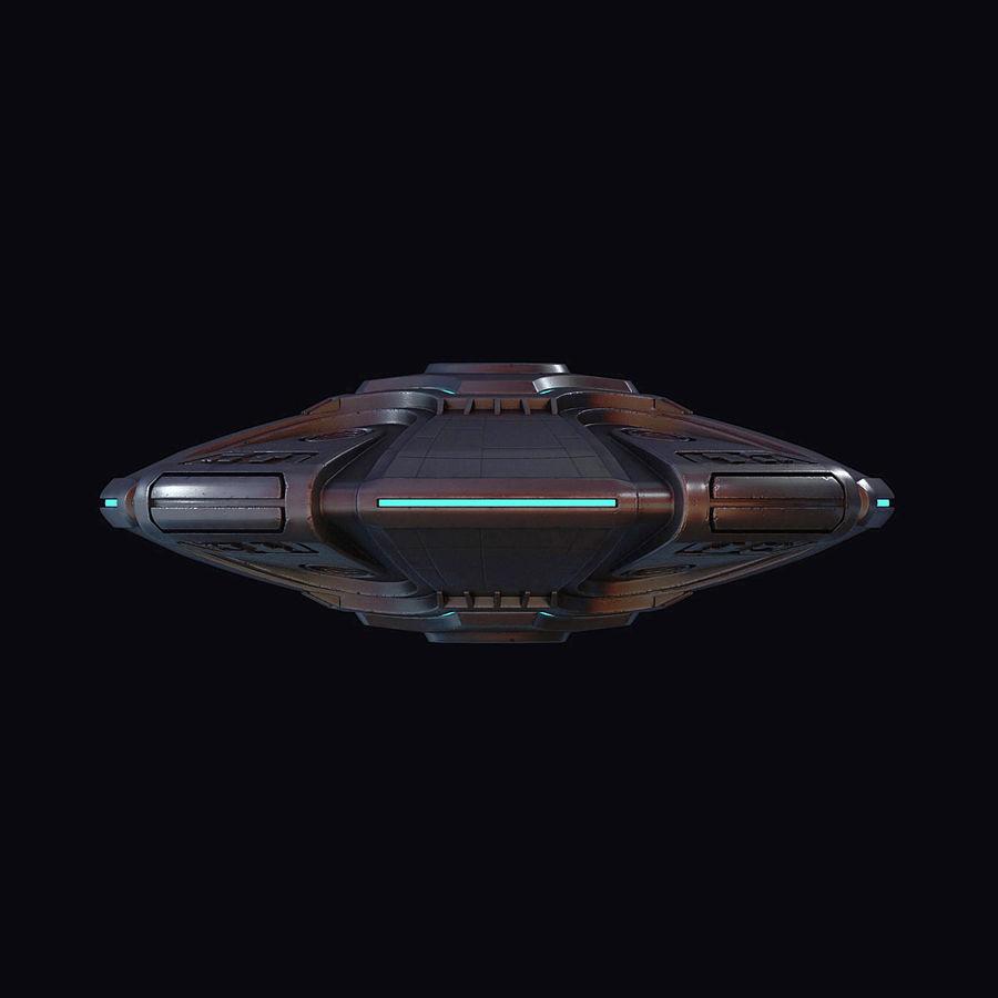 Bilim Kurgu UFO royalty-free 3d model - Preview no. 20