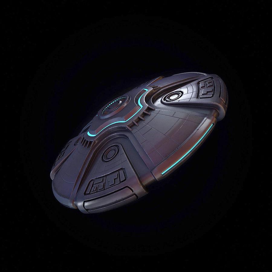 Bilim Kurgu UFO royalty-free 3d model - Preview no. 8