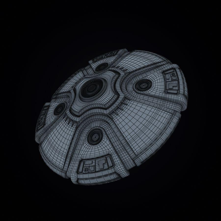 Bilim Kurgu UFO royalty-free 3d model - Preview no. 11