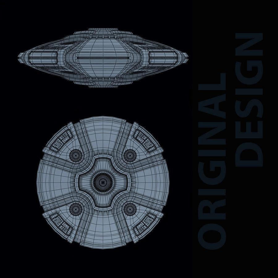 Bilim Kurgu UFO royalty-free 3d model - Preview no. 5