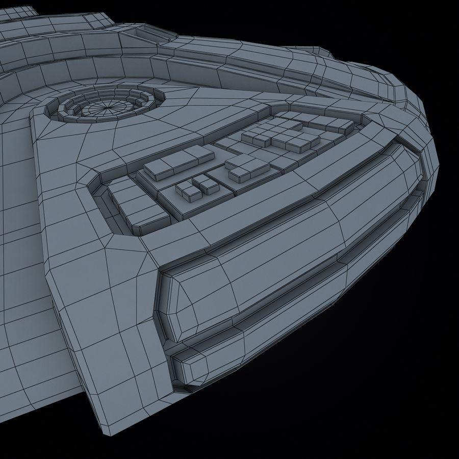 Bilim Kurgu UFO royalty-free 3d model - Preview no. 18
