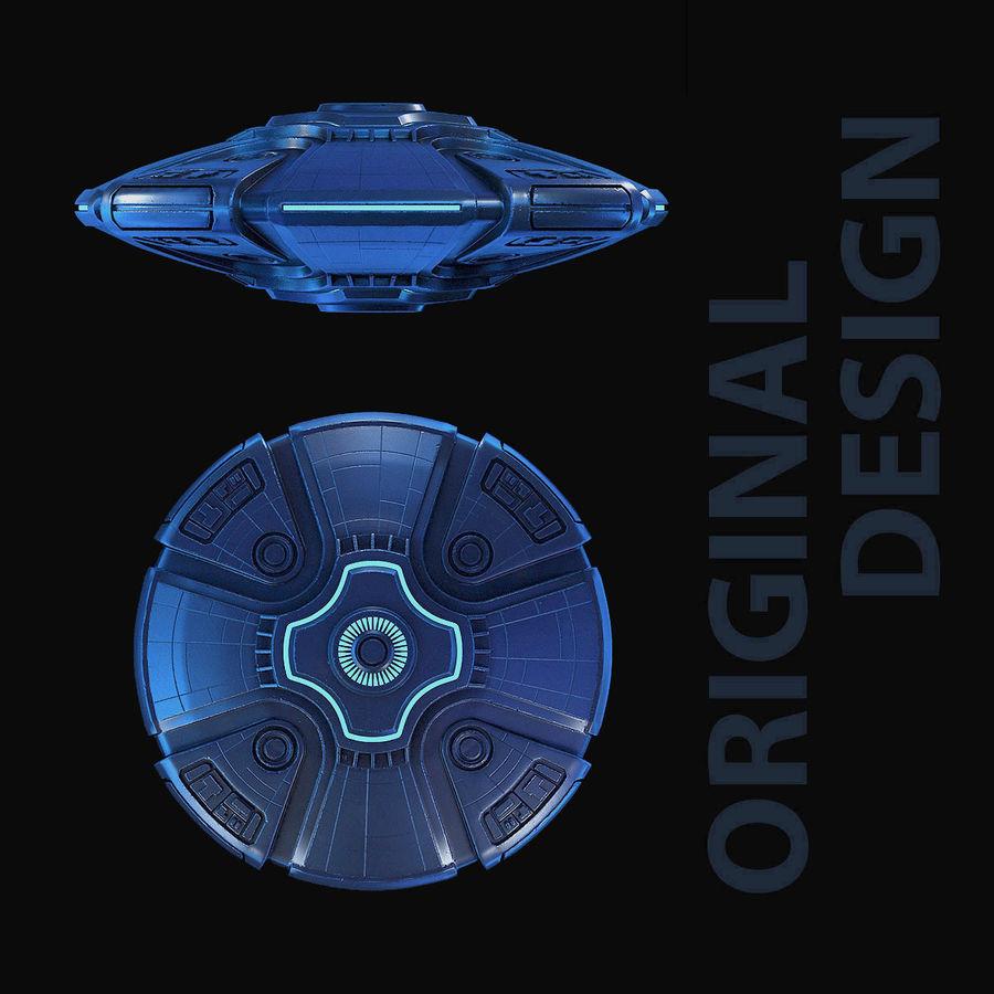Bilim Kurgu UFO royalty-free 3d model - Preview no. 4