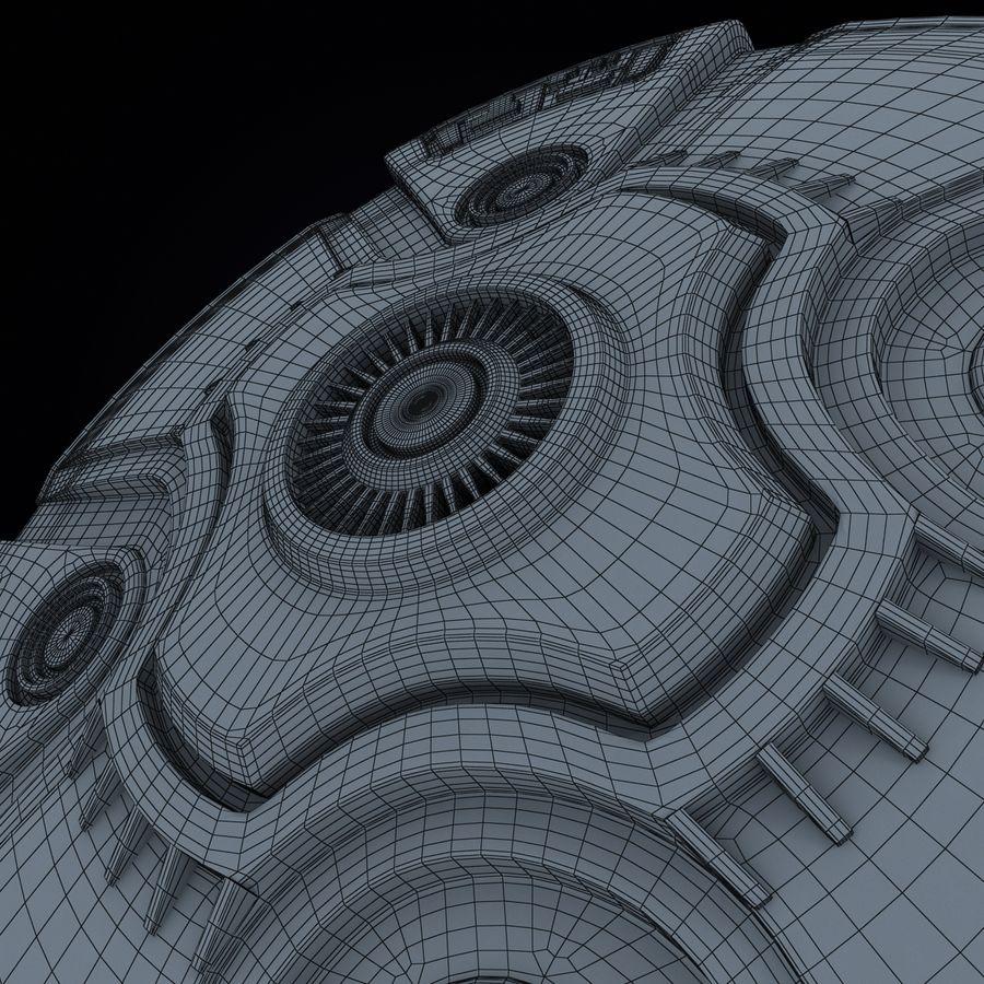 Bilim Kurgu UFO royalty-free 3d model - Preview no. 15