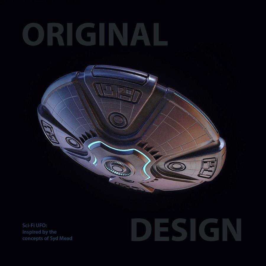 Bilim Kurgu UFO royalty-free 3d model - Preview no. 1