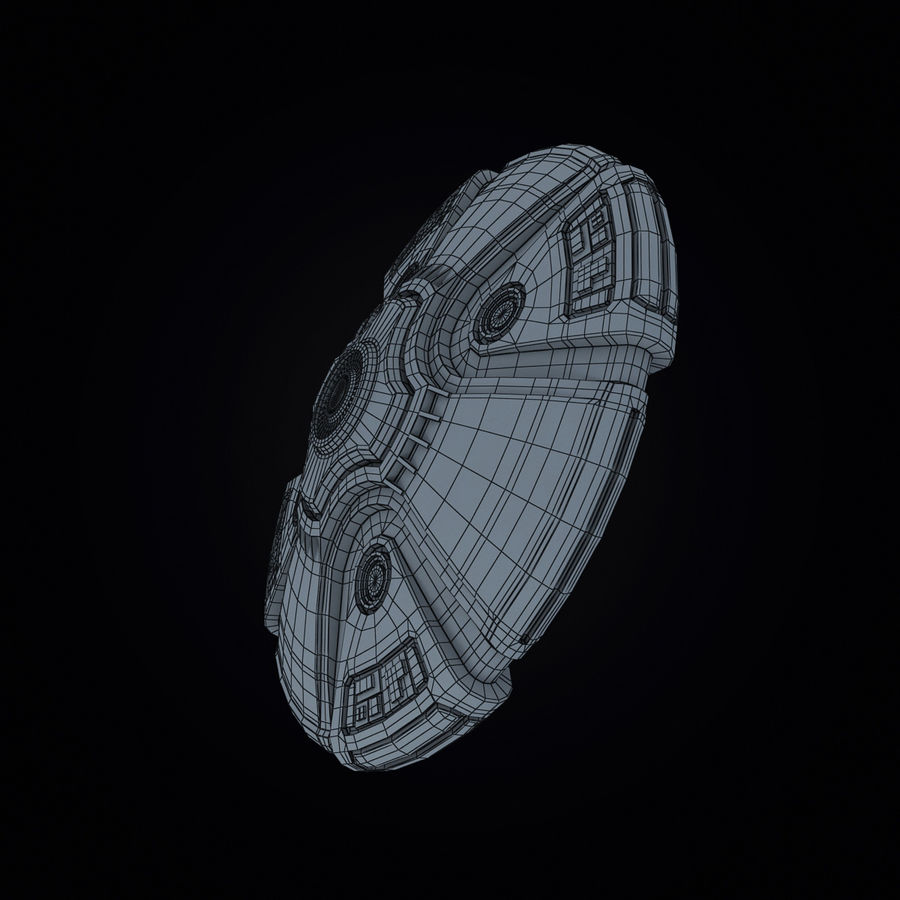 Bilim Kurgu UFO royalty-free 3d model - Preview no. 6