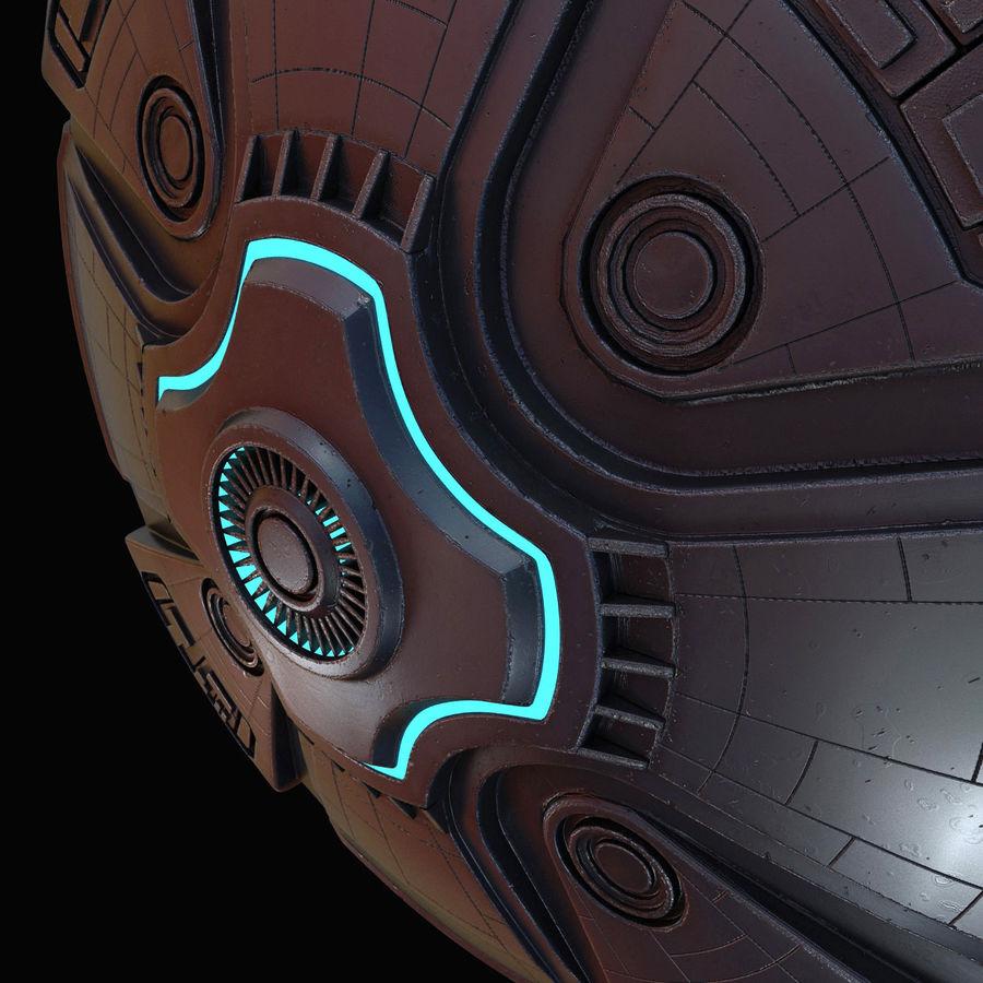 Bilim Kurgu UFO royalty-free 3d model - Preview no. 16