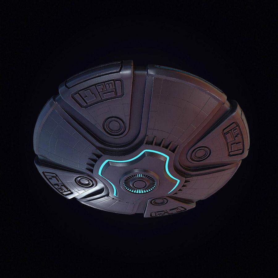 Bilim Kurgu UFO royalty-free 3d model - Preview no. 17