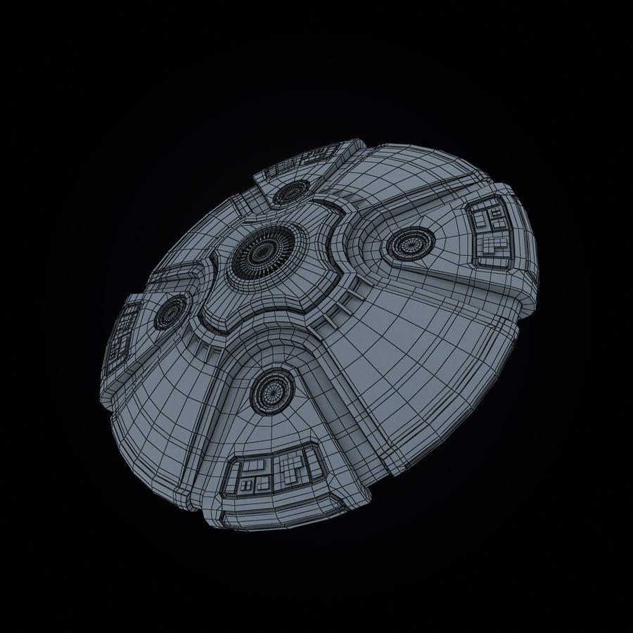 Bilim Kurgu UFO royalty-free 3d model - Preview no. 10
