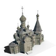 Drewniany kościół 3d model
