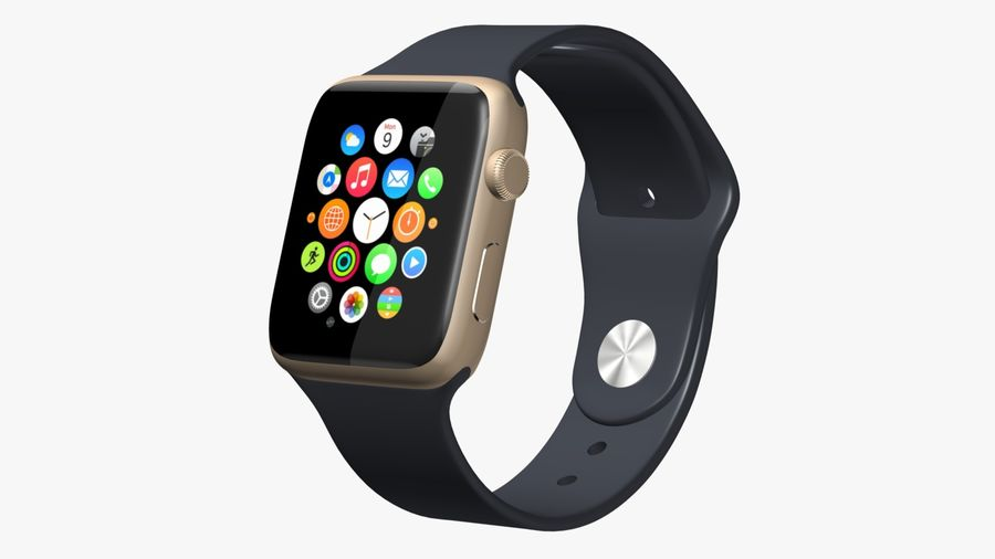 Apple Watch royalty-free 3d model - Preview no. 2