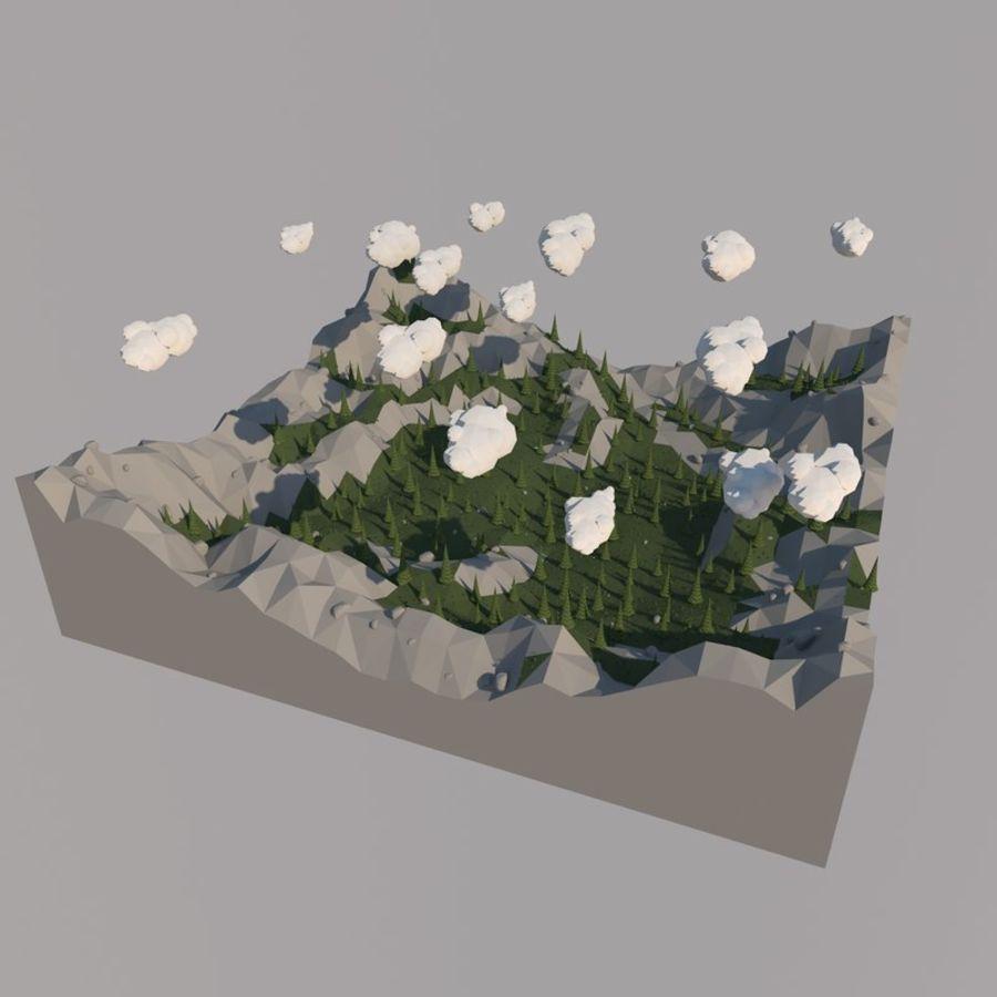 Низкополигональная Пейзаж royalty-free 3d model - Preview no. 7