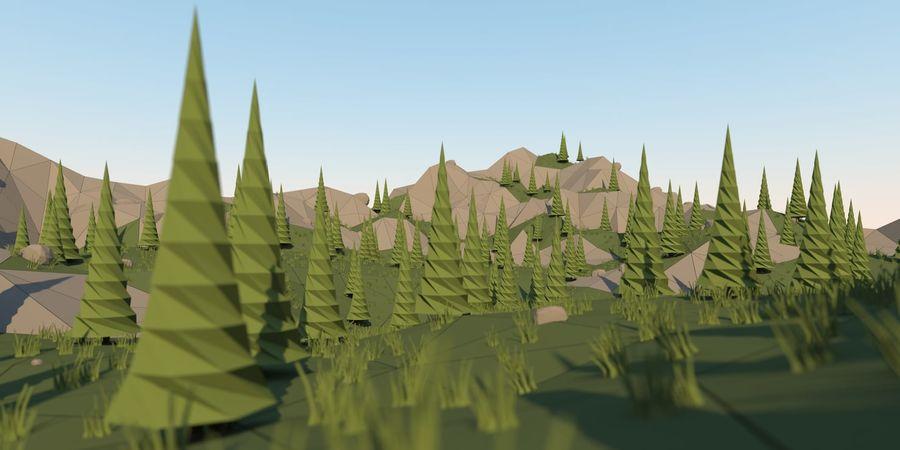 Низкополигональная Пейзаж royalty-free 3d model - Preview no. 1