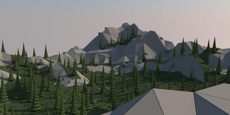 Низкополигональная Пейзаж royalty-free 3d model - Preview no. 4