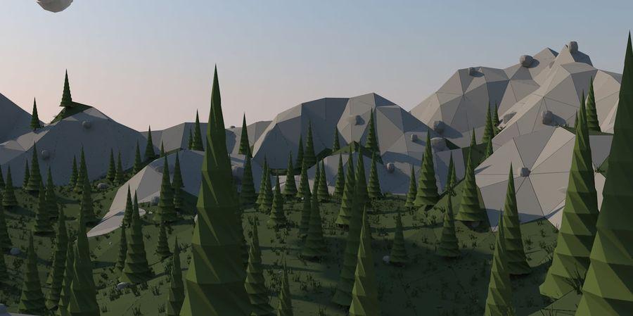 Низкополигональная Пейзаж royalty-free 3d model - Preview no. 6