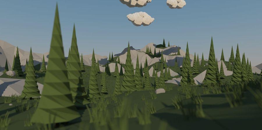 Низкополигональная Пейзаж royalty-free 3d model - Preview no. 5