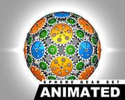 Animated Sphere Gear Set 3d model