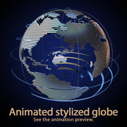 Globe stylisé. 3d model