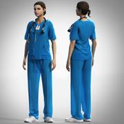 Nurse outfit 3d model