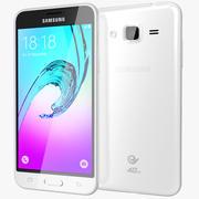 三星Galaxy J3白色 3d model