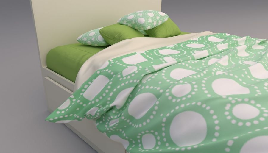 Platform Bed with Underbed Storage royalty-free 3d model - Preview no. 7