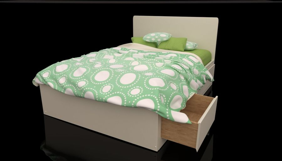 Platform Bed With Underbed Storage 3d Model 39 Max Unknown Fbx Obj 3ds Free3d