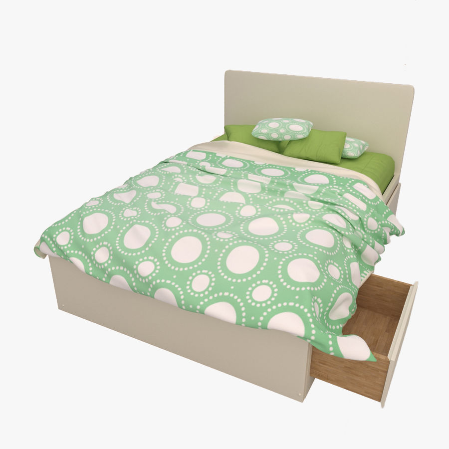 Platform Bed with Underbed Storage royalty-free 3d model - Preview no. 11