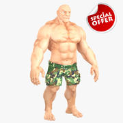 Muscular Man 2 3d model