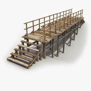 Modular Wooden Bridge 13 3d model