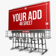 Techo Billboard 48 hojas modelo 3d