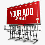 Billboard Roof 48 sheet 3d model